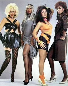 Mary Jane Girls, American R&B, soul, funk & disco group. Protégées of Rick James, they were believed to be named for his affinity for marijuana. Because James was offered a contract for a girl group but only had one singer, he had Jojo McDuffie (pictured, with hair beads) sing both lead & background while the others did not sing or were extremely limited vocally. This restricted their success, as they were unable to perform live. They are known for hits In My House, All Night Long, Candy Man…