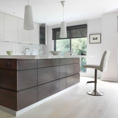 Ivory oak wide plank engineered flooring, perfect for kitchens www.element7.co.uk Wide Plank Flooring, Floors, Kitchens, Ivory, Wood, Interior, Home Decor, Home Tiles, Flats