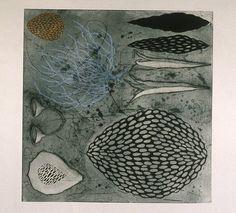 Tanja Softic - Night Swimming II, etching 1999.