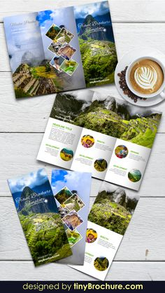 Brochure Indesign, Travel Brochure Template, Brochure Layout, Corporate Brochure, Business Brochure, Travel Brochure Design, Travel Design, Tri Fold Brochure Design, Graphisches Design