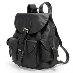 AmeriLeather Urban Buckle Flap Leather Backpack - This would be perfect for college.