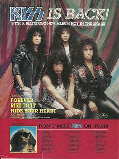 I saw Kiss with Eric Carr as drummer.