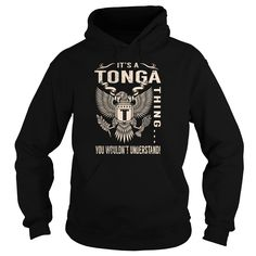 Its a TONGA Thing You Wouldnt Understand - Last Name, Surname T-Shirt (Eagle)