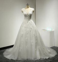 Ball Gown Wedding Dress with Beaded Lace by MelissaLife89 on Etsy