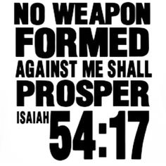Isaiah 54:17 Bible Scripture ✞ - Christian Quote thought