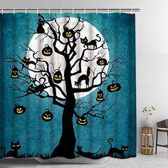 Final Friday Disney Halloween Pumkin Fabric Bathroom Shower Curtain 70 x 70 Inches Yellow
