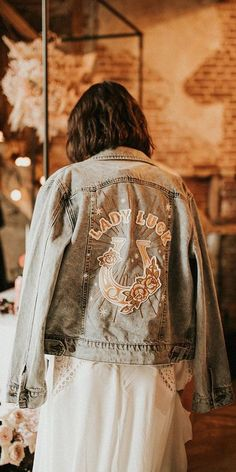 Hottest Trend 2020/2021: 18 Wedding Jackets ❤ wedding jackets denim decals for fall rue de seine #weddingforward #wedding #bride