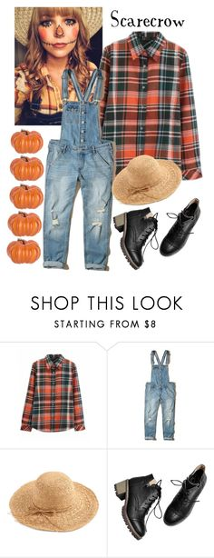 """Scarecrow Costume"" by k-mur10 ❤ liked on Polyvore featuring Hollister Co. and WithChic"