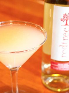"""<i>1 oz. gin  1 oz. Redtree Moscato  1 oz. lemon juice  ½ oz. Peach Schnapps  ½ oz. simple syrup</i>  To make simple syrup, mix equal parts hot water and sugar until sugar is dissolved. Combine all ingredients in a cocktail shaker filled with ice. Shake and strain into a glass.  <i>Source: <a href=""""http://www.redtreewine.com/"""">Redtree Wines</a></i>"""