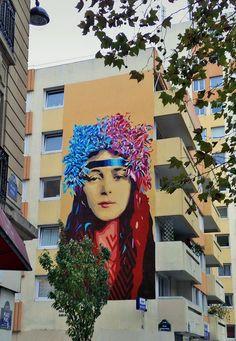 in Paris Public Art, Art Inspo, Murals, Street Art, Wall, Painting, Inspiration, Ideas, Landscaping