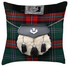 Tartan scottish kilt sporran decorative interiors cushion / pillow