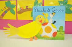 duck crafts | made a yellow paper plate duck craft later we sang five little ducks