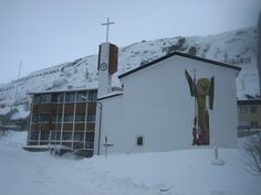 Michael's Church Northernmost Catholic church in the world Hammerfest, Norway Michael Church, St Michael, Bloody Mary, Norway Places To Visit, Gin, Norway Travel, Monte Carlo, Place Of Worship, Early American