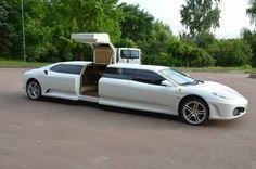 Ferrari Limousine. www.romanworldwide.com #orangecountylimo #lacountylimo #247limo