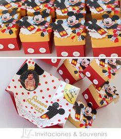 Mickey Mouse!! invitaciones para el primer añito de baby Aaron! cumpleaños ● tarjetería ●  birthday party ●  invitations ●  cards ● LizInvitaciones ● handmade ● hecho a mano
