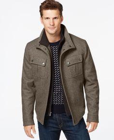 MICHAEL Michael Kors Brockton Wool-Blend Jacket - Designer Pop-Up Sale - Men - Macy's