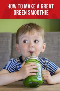 Become a green smoothie pro! Learn the fool-proof formula for creating delicious drinks for kids that are a nutritional-powerhouse. Whole Foods Smoothies, Healthy Green Smoothies, Easy Smoothies, Fruit Smoothies, Breakfast Smoothies, Super Healthy Kids, Good Healthy Snacks, Healthy Drinks, Healthy Recipes