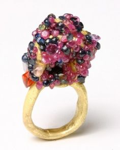 Karl Fritsch, ring, goud, stenen
