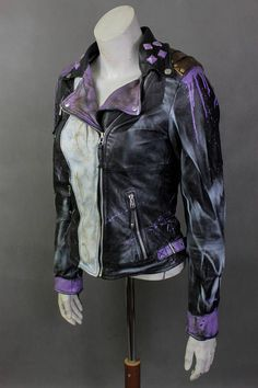 Purple Leather Jacket, Purple Jacket, Black Leather, Long Skirt Outfits, New Outfits, Cute Outfits, Modest Outfits, Summer Outfits, Super Hero Outfits
