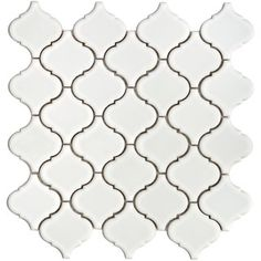 @Overstock - SomerTile 12.5 inch x 12.5 inch Lantern White Glazed Porcelain Floor & Wall Mosaic Tile Sheet (Case of 10)    This Floor & Wall Tile comes in tones of White, Blue, Earthtones, Beige   Traditional design is styled for Interior & Exterior usehttp://www.overstock.com/Home-Garden/SomerTile-12.5x12.5-in-Morocco-2.5-in-White-Porcelain-Mosaic-Tile-Pack-of-10/4798935/product.html?CID=214117 $90.99