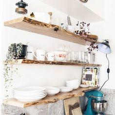 Kitchen Progress: Live-Edge Floating Shelves