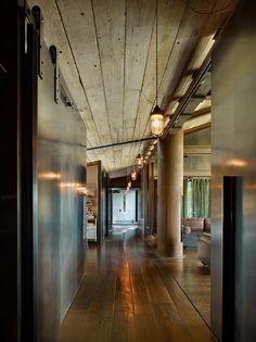 Interesting Industrial style Hallway