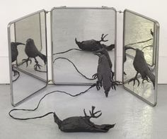 Annette Messager- I could use 3 mirrors in my work Modern Art, Contemporary Art, Bokashi, Arts Award, T Art, Art Moderne, Land Art, Strasbourg, Wall Sculptures