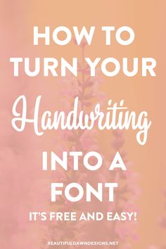 In this tutorial I'll be showing you how to turn your handwriting into a font. It's easy to do, and allows you to add a personal touch to your graphics.