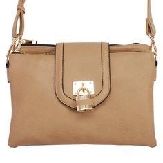 The Paper Store MMS Design Studio Lock Crossbody Bag in Taupe #thepaperstore #accessories #mystyle #fashionista