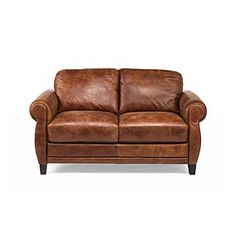 Natuzzi Editions® Naples Leather Loveseat at www.carsons.com
