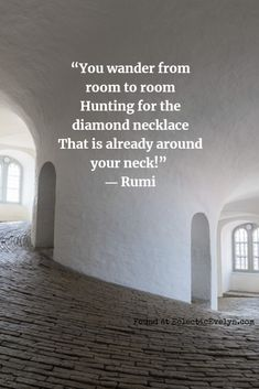 Rumi was born in 1207 in Persia in the city of Balkh in what is present-day Afghanistan. Rumi was a wealthy nobleman, theologian, and scholar. When he was in his late thirties he met Shams a wandering mystic. Shams was in his sixties. Rumi Love Quotes, Motivacional Quotes, Sufi Quotes, Yoga Quotes, Wisdom Quotes, Great Quotes, Words Quotes, Inspirational Quotes, Sayings