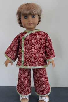 American Girl Doll Clothes  Christmas Pajamas by ForAllTimeDesigns, $24.00