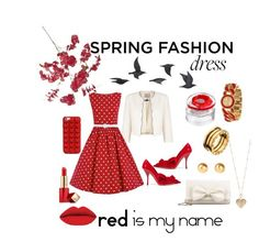"""Spring Fashion Desse Red"" by makesmefashionable on Polyvore featuring Pier 1 Imports, Jacques Vert, Jayson Home, Miu Miu, RED Valentino, Kenzo, Marc Jacobs, BillyTheTree, Snö Of Sweden and Bulgari"