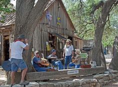 Luckenbach is an unincorporated community thirteen miles from Fredericksburg in southeastern Gillespie County, Texas, United States, part of the Texas Hill Country. Luckenbach is known as a venue for country music.