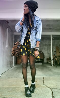 The Denim Jacket over a drees...