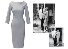 Just like Marilyn! Made in a grey that will become your go-to look, the Misty dress will hold you firmly in place for a comfortable fit that will stretch to conform to your curves in our most popular stretch millennium fabric.