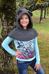Ravelry: Zoey's Hooded Bear Cowl pattern by Danette Lundberg