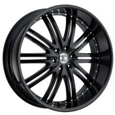 2CRAVE - no.11 - 22 Inch Rim x 9.5 - (5x115) Offset (15) Wheel Finish - satin black