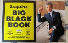 UK ESQUIRE Spring/Summer 2015 BIG BLACK BOOK Style Manual For MEN Fashion SUITS | eBay