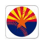 Arizona Flag Baseball Square Sticker #weddinginspiration #wedding #weddinginvitions #weddingideas #bride