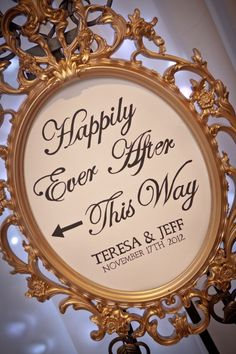I love this sign for a wedding. Happily Ever After