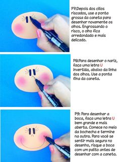 Creativity with Care!!: How to Draw the little face in Fofuchas #3