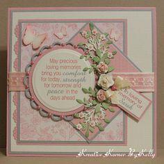 Kreative Korner By Kelly: Sympathy Card   Nestibilities Lacey Circle,  Martha Stewart Branch Punch