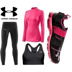 under armour pink, created by carlie-packman on Polyvore