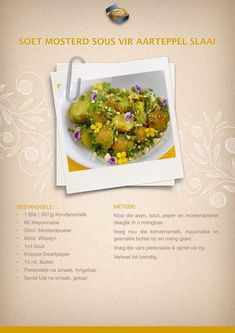Salad Recipes, Healthy Recipes, Healthy Foods, Braai Recipes, South African Recipes, Unique Recipes, Mayonnaise, Kos, Salads