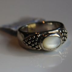 Golnar Jewelry - RING VINTAGE ESPOSITO ESPO SIG BOLD STERLING SILVER MOTHER OF PEARL, $199.00 (http://www.golnarjewelry.com/ring-vintage-joseph-esposito-espo-sig-bold-sterling-silver-mother-of-pearl-dome/)