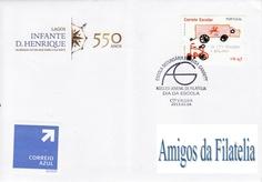 No dia 4 de Fevereiro de 2013, o Núcleo Juvenil de Filatelia da Escola Secundária Almeida Garrett, comemorou o dia da escola com mais um carimbo comemorativo. O selo utilizado foi o da emissão correio escolar colocada em circulação a 09/10/2010
