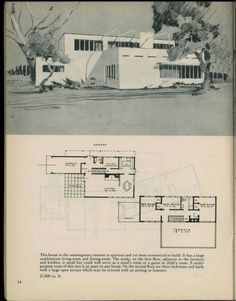 Houses for homemakers Vintage House Plans, Modern House Plans, House Floor Plans, Vintage Houses, Building Plans, Building A House, The Sims, Raised House, Mcm House