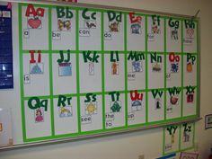 Chalk Talk: A Kindergarten Blog: word wall...I really like the organization of this word wall. A great post on the theory behind the grid