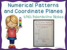 Teach students how to: ~Generate and interpret numerical patterns ~Find parts of a coordinate plane ~Graph ordered pairs ~Generate and graph numerical patterns ~Use real-world math to move along the coordinate plane using cardinal directions  Common Core Aligned: 5.OA.B.3, 5.G.A.1, 5.G.A.2